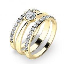 Set prstenů ze žlutého zlata 10819-SET02-ZZ