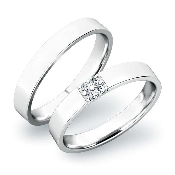 Snubní prsteny stříbrné SP-61027-Ag
