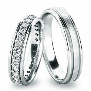Snubní prsteny - bílé zlato SP-61053