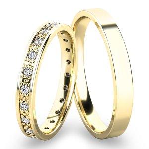 Snubní prsteny ze žlutého zlata SP-61048