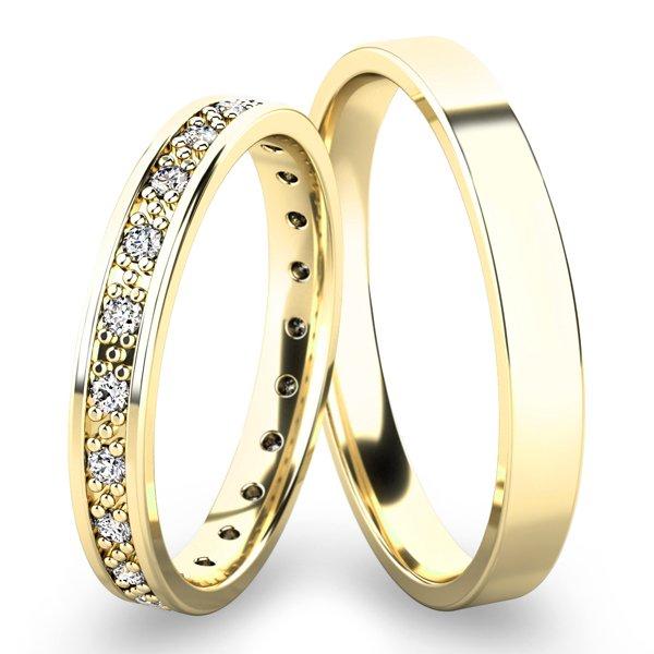 Snubní prsteny ze žlutého zlata SP-61048Z