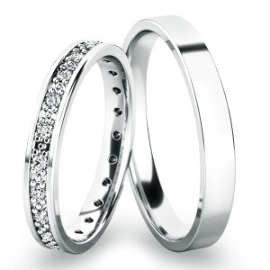 Snubní prsteny z bílého zlata SP-61048