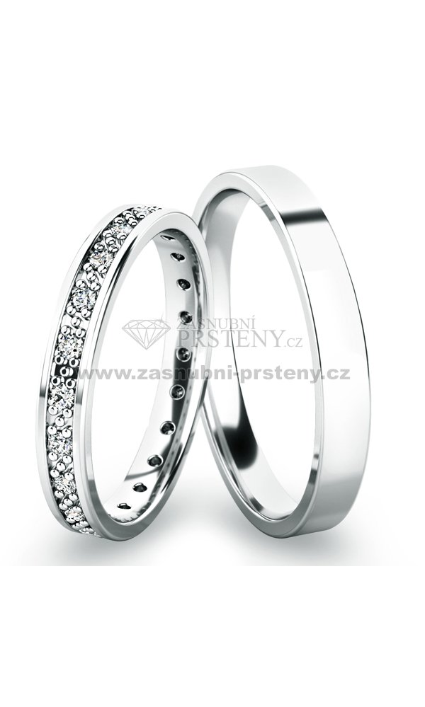 Snubni Prsteny Z Bileho Zlata Sp 61048 Zasnubni Prsteny Cz