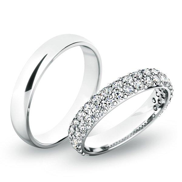Snubní prsteny bílé zlato SP-61060
