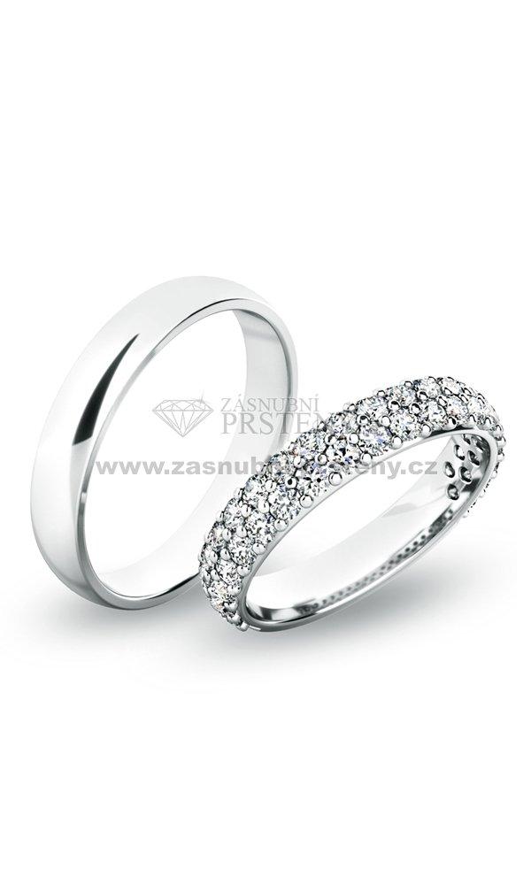 Snubni Prsteny Bile Zlato Sp 61060 Zasnubni Prsteny Cz