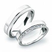 Stříbrné snubní prsteny SP-61039-Ag