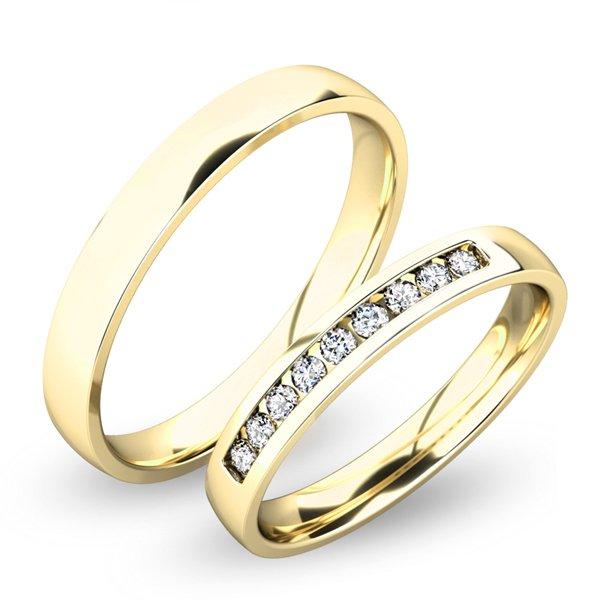 Snubní prsteny ze žlutého zlata SP-61047