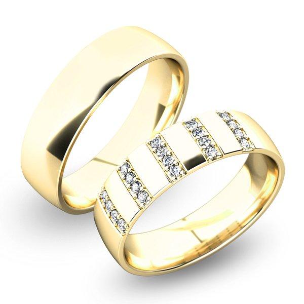 Snubní prsteny ze žlutého zlata SP-61025Z
