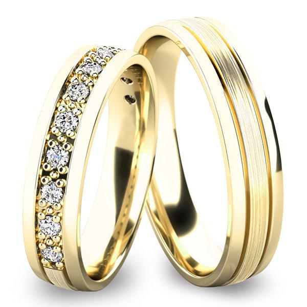 Snubní prsteny ze žlutého zlata SP-61052