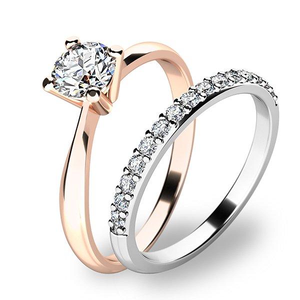Set dvou zásnubních prstenů 10770-SET01-RB