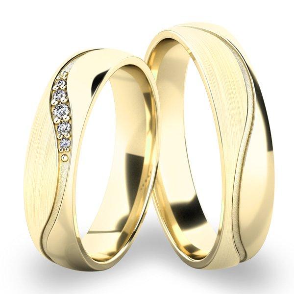 Snubní prsteny ze žlutého zlata SP-61064