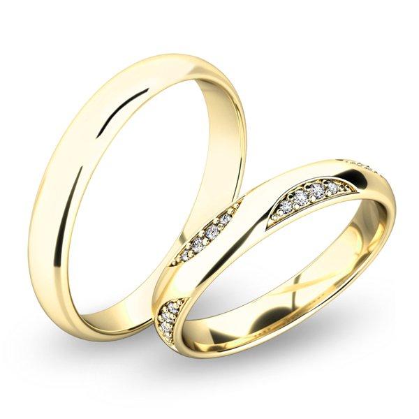 Snubní prsteny ze žlutého zlata SP-61050