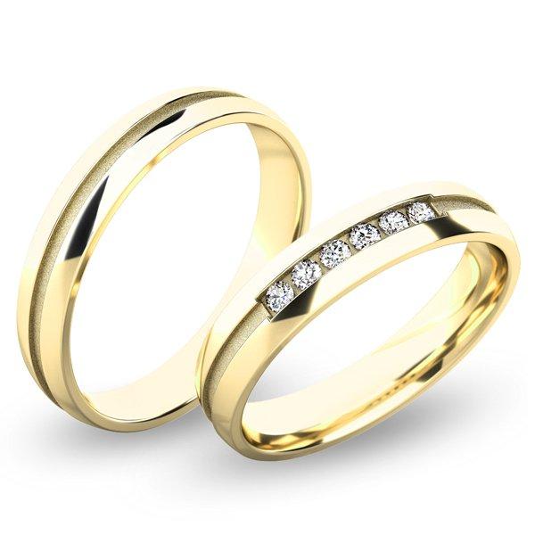 Snubní prsteny ze žlutého zlata SP-61059
