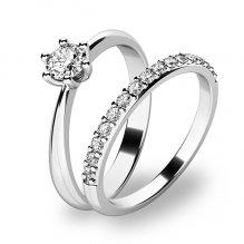 Set prstenů z bílého zlata 10819-SET01-BB