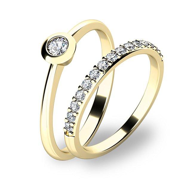 Set zásnubních prstenů ze žlutého zlata 10807-SET01-ZZ