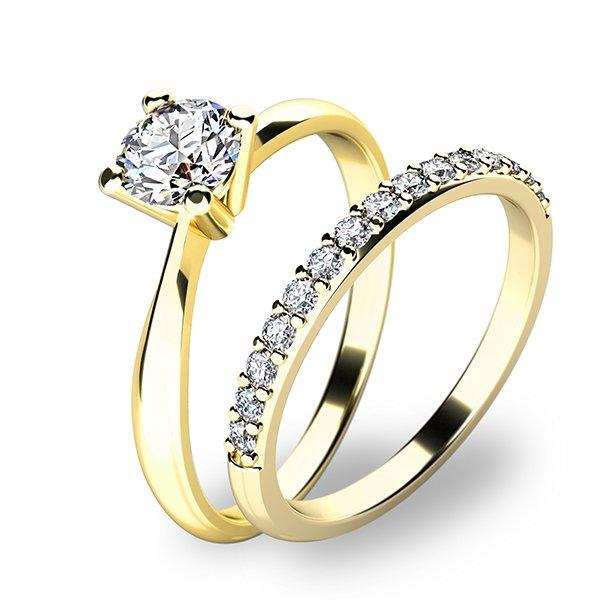 Set zásnubních prstenů ve žlutém zlatě 10770-SET01-ZZ