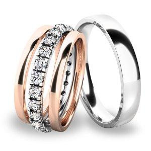 Snubní prsteny set ze zlata SP-61045-SET01