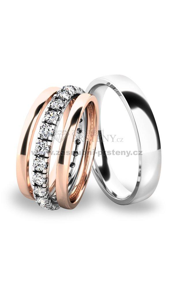 Snubni Prsteny Set Ze Zlata Sp 61045 Set01 Zasnubni Prsteny Cz