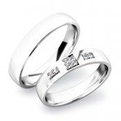 Snubní prsteny ze stříbra SP-61034-Ag