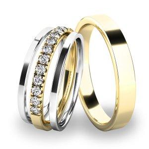 Set snubních prstenů SP-61061-SET02