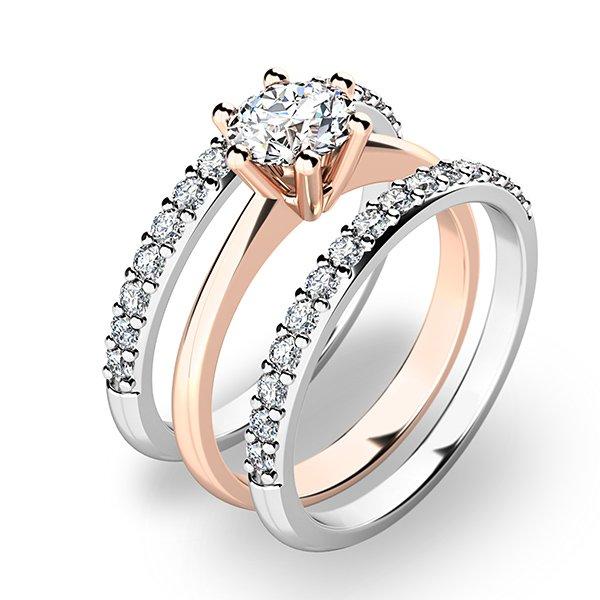 Set zásnubních prstenů z kombinovaného zlata 10720-SET02-RB
