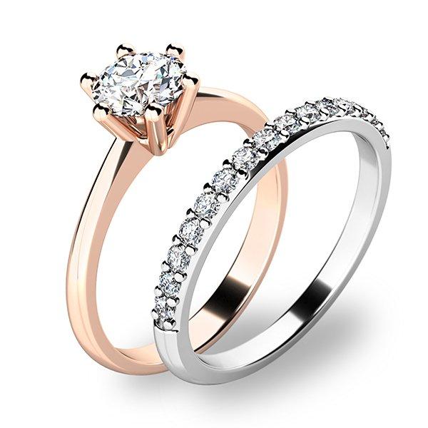 Set zásnubních prstenů z kombinovaného zlata 10720-SET01-RB