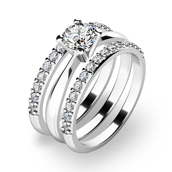 Krásný set zásnubních prstenů 10770-SET02-BB