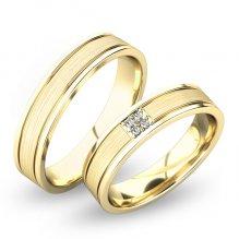 Snubní prsteny ze žlutého zlata SP-61055Z