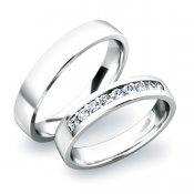 Snubní prsteny ze stříbra SP-61037-Ag