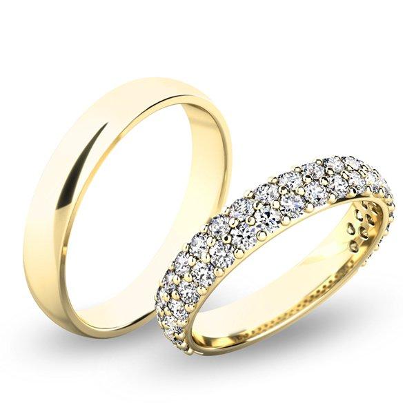 Snubní prsteny ze žlutého zlata SP-61060
