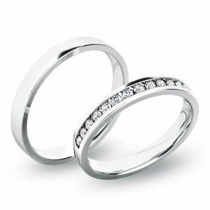 Snubní prsteny - bílé zlato SP-61049