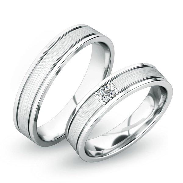 Snubní prsteny z bílého zlata SP-61055B