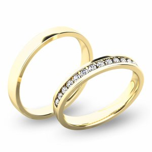Snubní prsteny - žluté zlato SP-61049