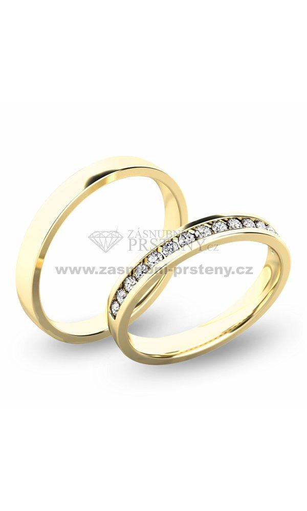Snubni Prsteny Zlute Zlato Sp 61049 Zasnubni Prsteny Cz