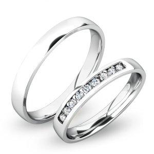 Snubní prsteny bílé zlato SP-61047