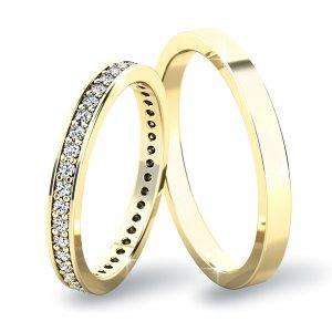 Snubní prsteny ze žlutého zlata SP-61044