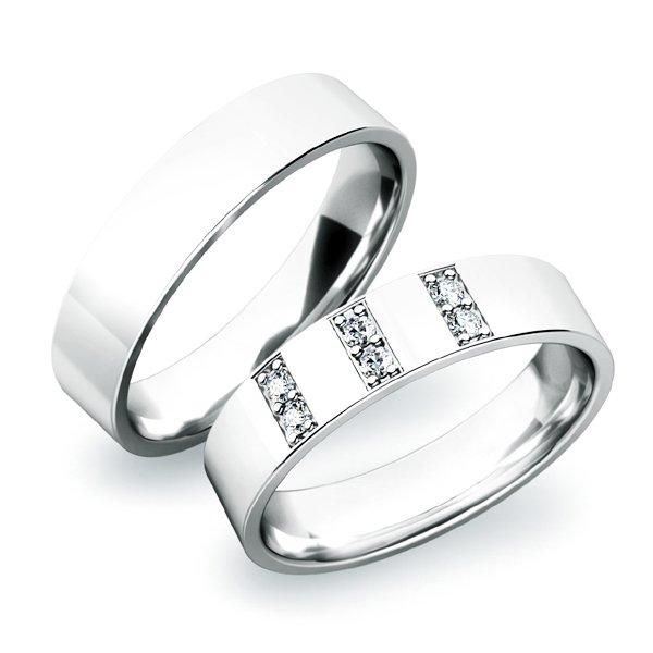 Stříbrné snubní prsteny SP-61031-Ag
