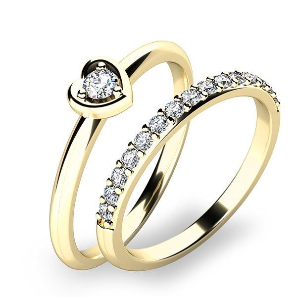 Nádherný set zásnubních prstenů ze žlutého zlata 10849-SET01-ZZ