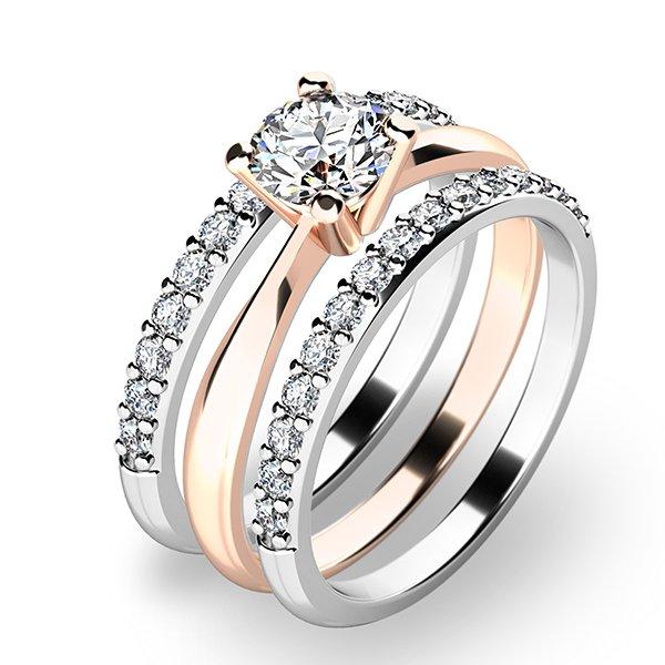 Set tří zásnubních prstenů 10770-SET02-RB