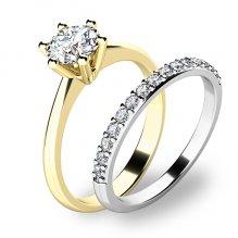 Set zásnubních prstenů z kombinovaného zlata 10720-SET01-ZB