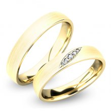 Snubní prsteny zlaté SP-61038