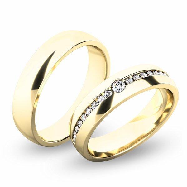 Snubní prsteny ze žlutého zlata SP-61054