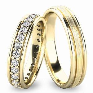 Snubní prsteny ze žlutého zlata SP-61053