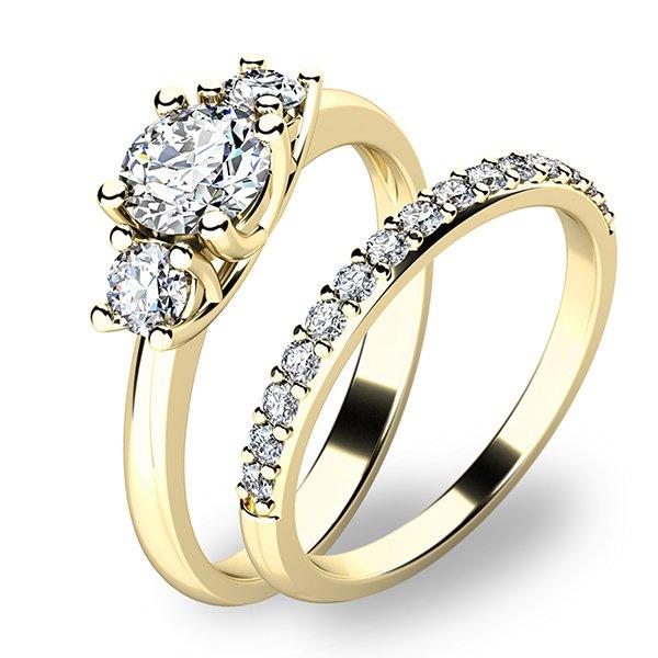Set zásnubních prstenů ze žlutého zlata 10803-SET01-ZZ