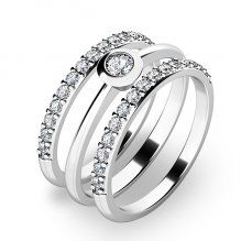 Set zásnubních prstenů z bílého zlata 10807-SET02-BB