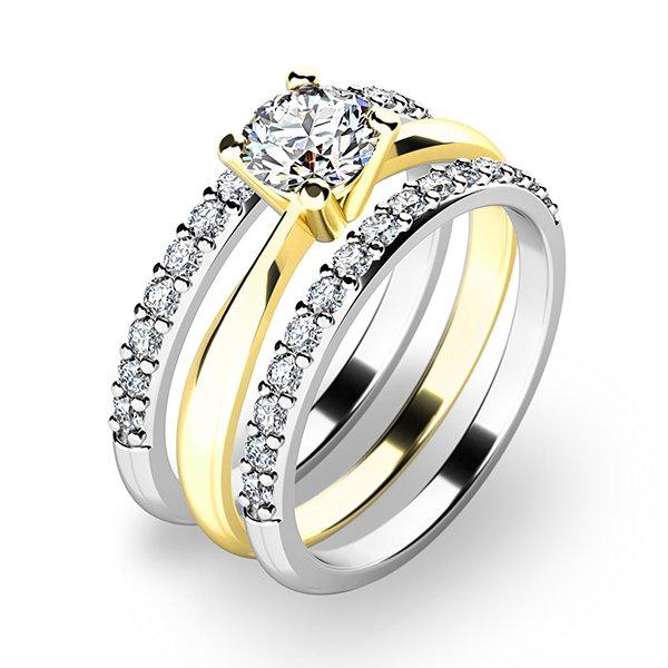 Set tří zásnubních prstenů 10770-SET02-ZB