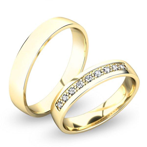 Snubní prsteny ze žlutého zlata SP-61058