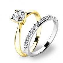 Set dvou zásnubních prstenů 10770-SET01-ZB