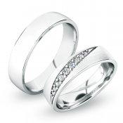 Stříbrné snubní prsteny SP-61051-Ag