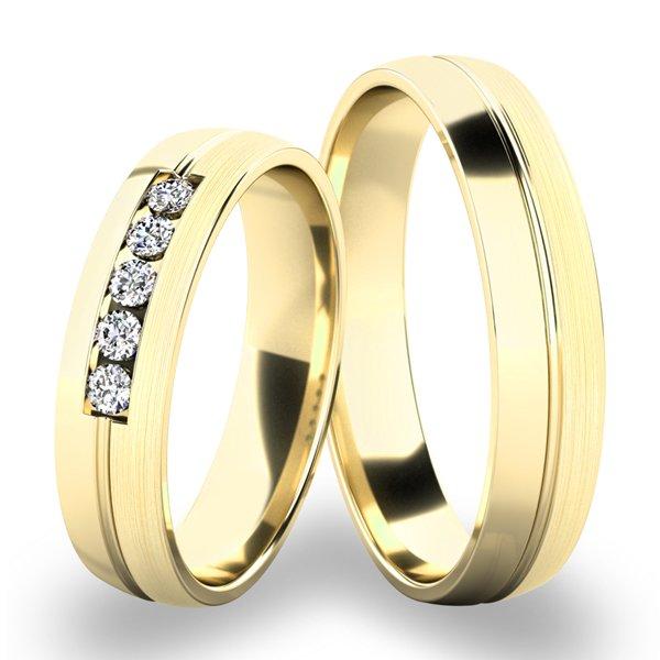 Zlaté snubní prsteny SP-287